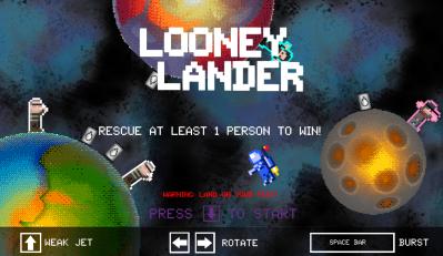 Looney Lander Play Screenshot